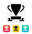 Trophy and awards icon vector image
