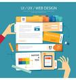 web designui ux wireframe concept flat design vector image