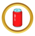 Aluminum beverage bank icon vector image