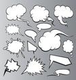 Speech bubbles backgrounds vector image vector image