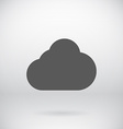 Flat Cloud Storage Icon Symbol Background vector image