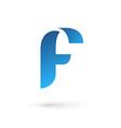 Letter F logo icon vector image
