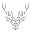 Polygonal Deer head Creative art icon stylized vector image
