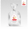 Plastic gift bag with gold shiny ribbon vector image vector image