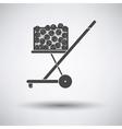 Tennis cart ball icon vector image