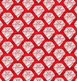 red cartoon diamond background vector image vector image