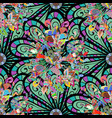 beautiful fabric pattern seamless floral pattern vector image