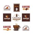 Coffee Shop Cafe Design Emblems Collection vector image