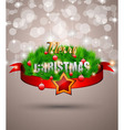 Elegant Classic Christmas flyer vector image