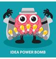 IDEA POWER BOMB vector image