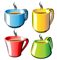 cups set vector image vector image