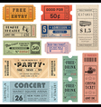 Grunge Ticket Set2 vector image