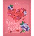 retro valentines card 2 380 vector image