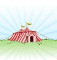 circus entertainment tent vector image vector image