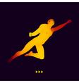 Jump Man 3D Model of Man Business Science Sport vector image