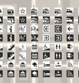 Set of pictograms for cards and city schemes vector image