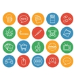 Bad habits color linear icons set vector image
