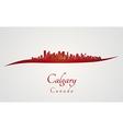 Calgary skyline in red vector image
