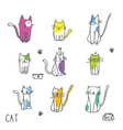 Cats - Freehand drawings vector image