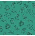 Family set pattern vector image