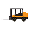 forklift vehicle icon vector image