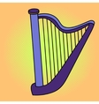 Harp Pop art vector image