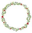 Holly wreath vector image