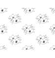 sakura cherry blossom flower seamless on white vector image