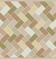 seamless pattern brick tile herringbone vector image