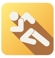 Sport icon with run people in flat style vector image