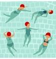 Swimming Women in Pool vector image