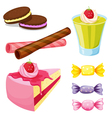 various sweets vector image vector image