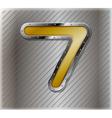 Metallic number seven vector image vector image