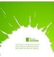 Green drop over white vector image vector image