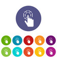 click set icons vector image vector image