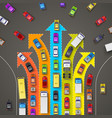 traffic jam with directional arrows vector image