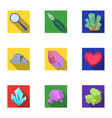 a set of jewelry crystals minerals and expensive vector image