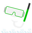 mask and snorkel diving in the sea vacation on vector image