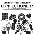 Confectionery vector image