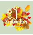 First September Autumn Background vector image