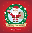 greeting card christmas card with santa claus vector image