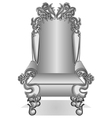 king throne vector image