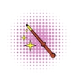 Magic wand icon comics style vector image