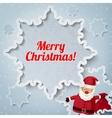Merry Christmas greeting card - Santa Claus vector image
