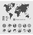 Planet earth symbol set vector image