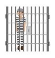 prisoner avatar character icon vector image