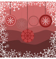 red snake with floral pattern with snow vector image