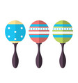 rumba shakers maracas rattle icon musical vector image