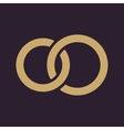 The United wedding ring icon Marriage and glans vector image