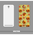 Phone Cover Autumnal Pumpkin vector image
